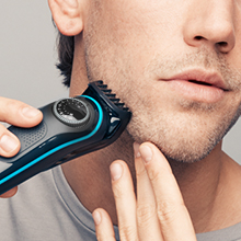 Stubble, short beard & hair clipping The short beard comb helps you maintain short to medium beards (0.5 - 10mm) and even clips your hair. Remove the comb for an even closer (0.5mm) trim. The precision dial allows you to achieve the exact desired length in 0.5mm steps.