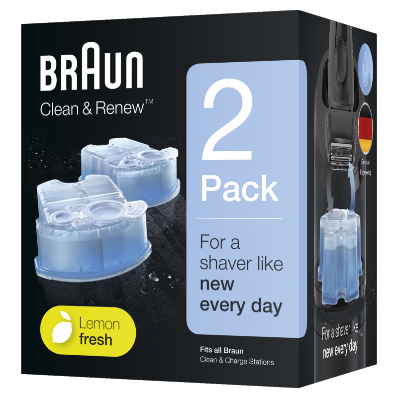 Braun CCR2 Clean and charge Refill Pack 2